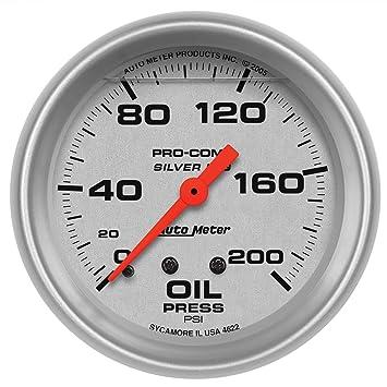 Auto Meter 4622 plata LFGS Indicador de presión de aceite ...