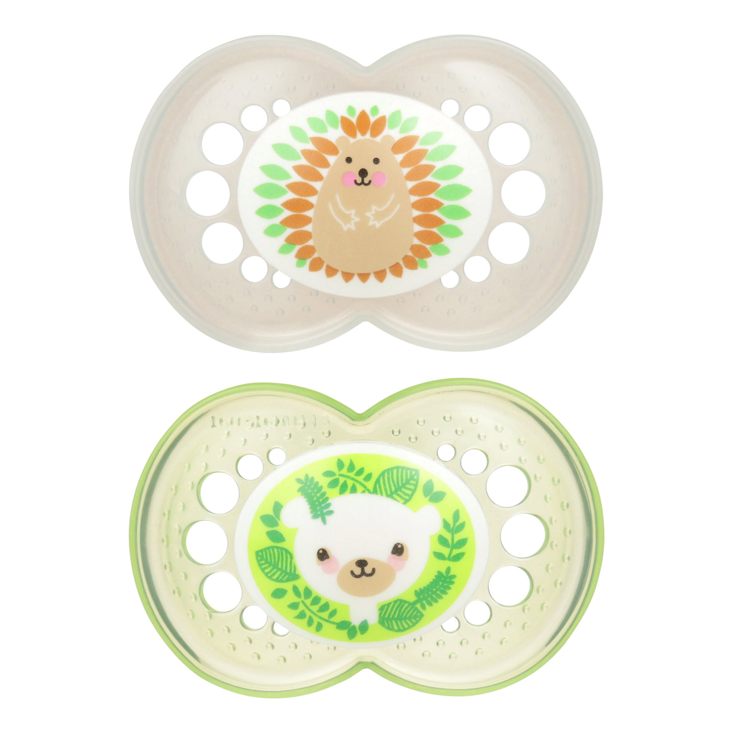 MAM Animals Orthodontic Pacifier, 2 Pack, Unisex, 6+ Months