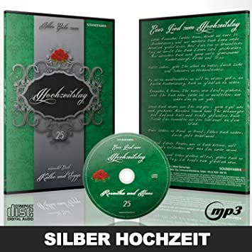 Personalisiertes Lied Zur Silber Hochzeit Geschenk Cd Gesungen Mit Den Vornamen Des Ehepaares Und Einem Persönlichen Introtext Ideal Als