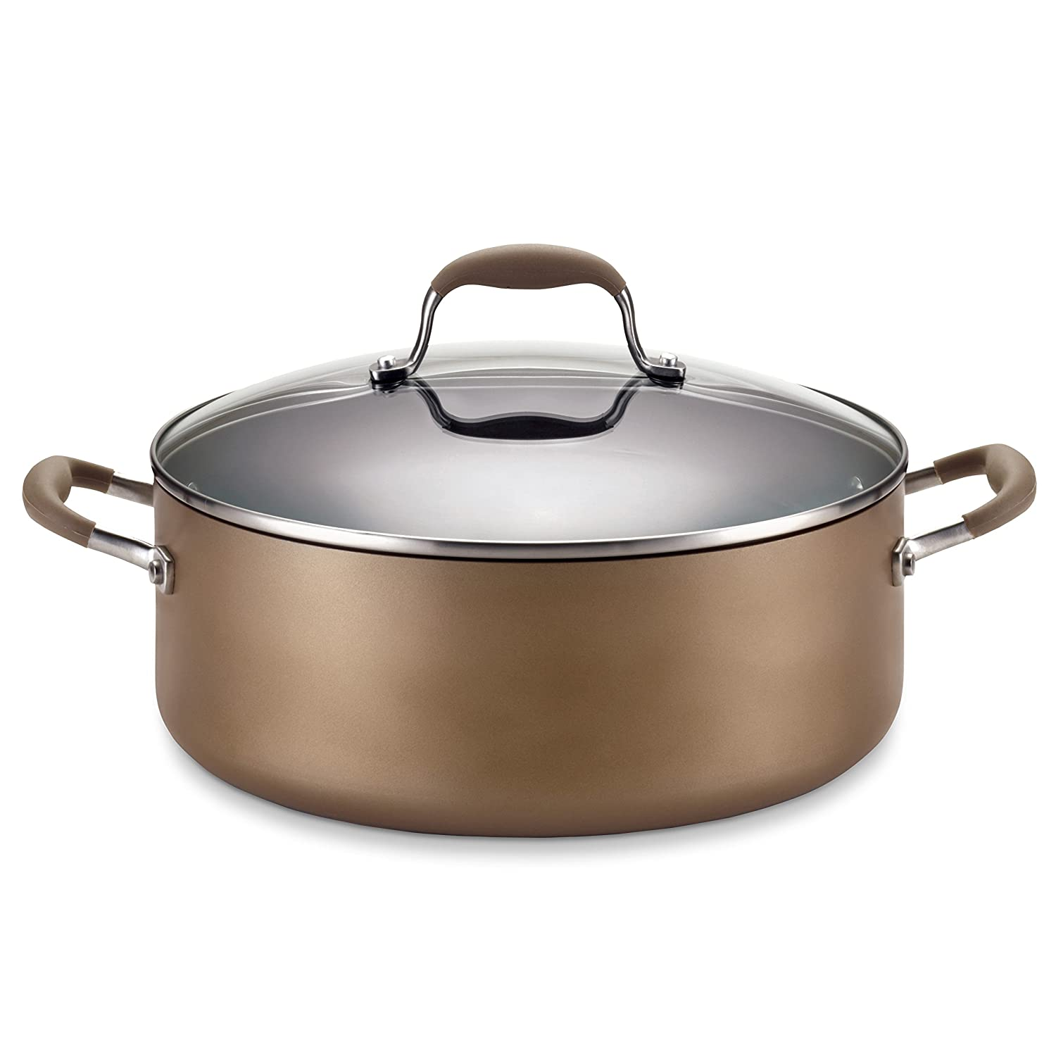 Anolon Advanced Hard Anodized Nonstick 7-1/2-Quart Covered Wide Stockpot with out Steamer Insert 82825