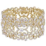 Amazon Price History for:EVER FAITH Women's Austrian Crystal Bride Heart Art Deco Elastic Stretch Bracelet Clear