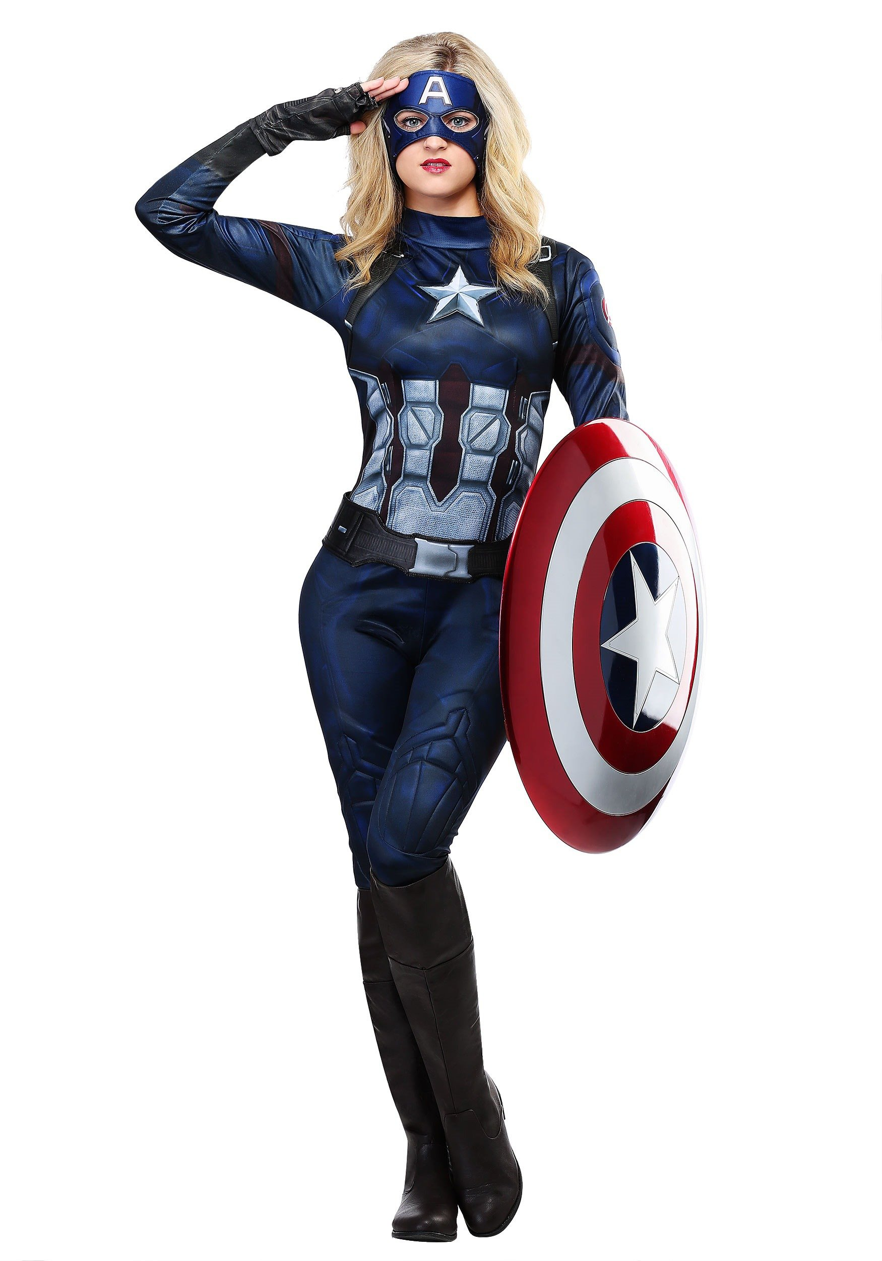 Captain America Womens Costume - L