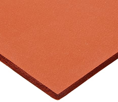 20 x 20 x 0.12 Silicone Foam Rubber Closed Cell Big Sheet Red Gasket Flexibility Excellent Insulation 2 Pack