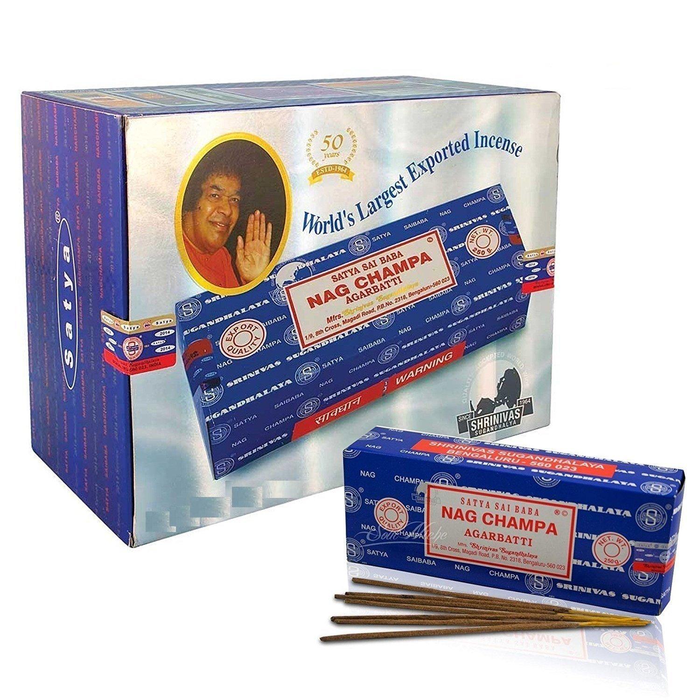 日本人気超絶の Divine Satya Sai Sai Baba Nag Champa B076Q97DKN 1000グラムIncense Sticks Agarbatti Sticks B076Q97DKN, 鹿足郡:f685f589 --- aemmontagens.com.br