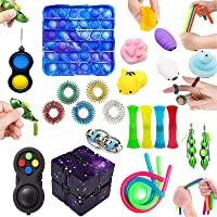 Fidget Toys Set,25pcs Sensory Fidget Toys,Push Pop It Relieves Stress Toys for Kids and Adults and Anxiety Fidget Toy…