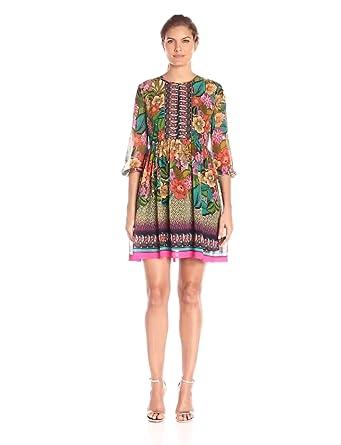 Donna Morgan Women\'s Lotus Dress, Pink Lotus Multi, 8 at Amazon ...