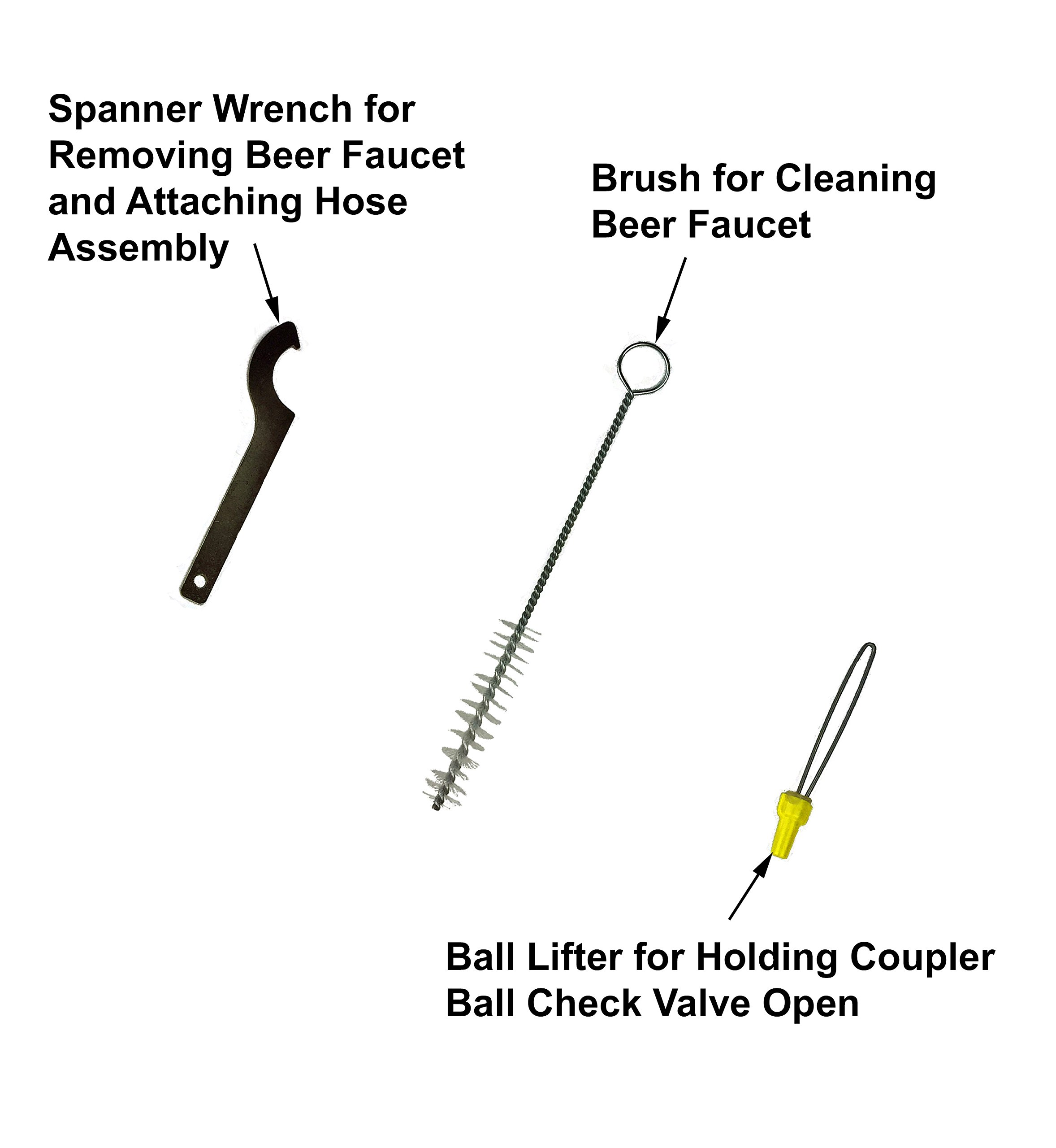 Kegerator Beer Line Cleaning Kit – All Necessary Cleaning Accessories and Powder Cleaning Compound