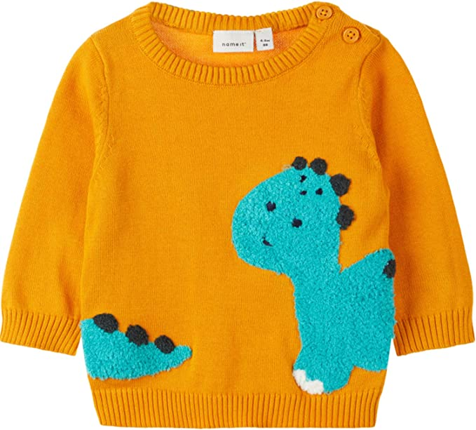 NAME IT Baby-Jungen Nmmnobert Ls Knit Camp Pullover