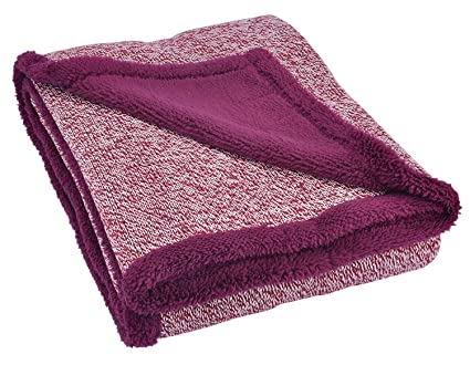 Image Unavailable. Image not available for. Color  Sherpa Throw Blanket  Super Soft Cozy with Plush Fleece ... 38a628387