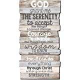 Lighthouse Christian Products Serenity 8.5 x 16.5 Stacked Wood Wall Plaque