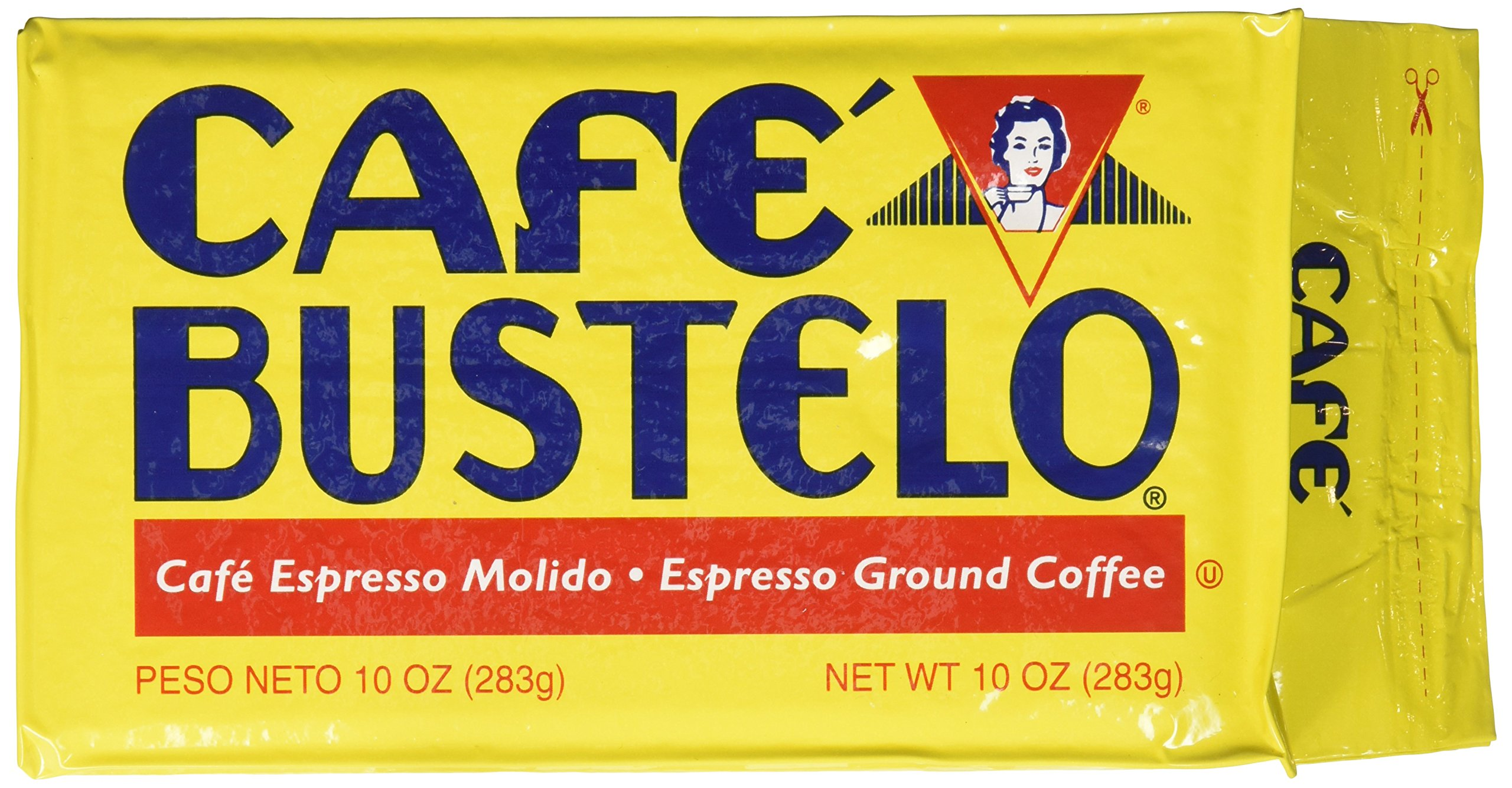 Cafe Bustelo Espresso Coffee, 10 Ounce Bricks (Pack of 24)