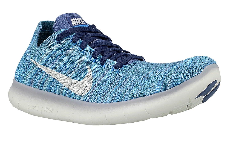 NIKE Women's Free RN Flyknit 2017 Running Shoe B01HNIX0LW 8 B(M) US|Ocean Fog/White-blue Glow-hyper Jade