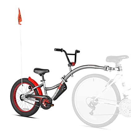 ff46af3585e Amazon.com : WeeRide Co-Pilot XT Deluxe Wide Tire Bike Trailer, Grey ...