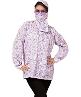 291fc4cb66fa Style Up Mask Suncoat- Dust Pollution Protection Driving Traveling Coat  Long Sleeves Cotton Jacket