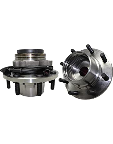 Detroit Axle - Pair (2) Coarse Threads Front Wheel Hub and Bearing Assembly w
