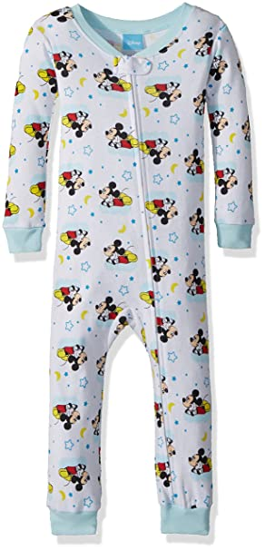 8acc9263b Amazon.com  Disney Baby Boy s Mickey Mouse Cotton Non-Footed Pajama ...