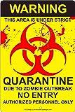 Amazon.com: Biohazard Zombie outbreak quarantine aluminum ...