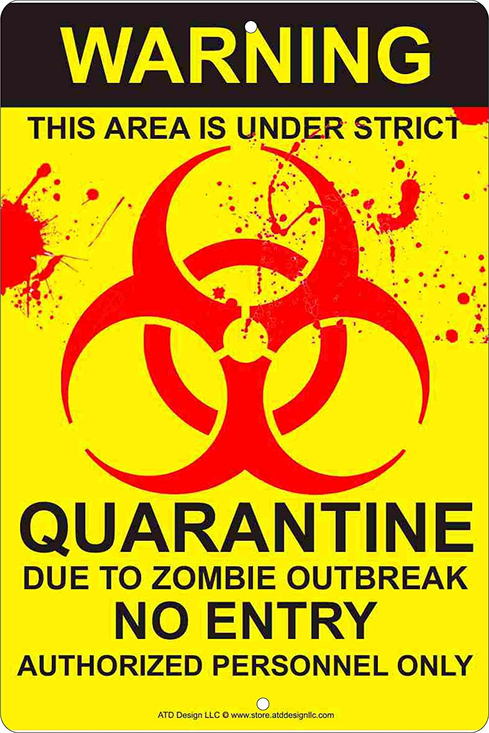 Amazon biohazard zombie outbreak quarantine aluminum sign home amazon biohazard zombie outbreak quarantine aluminum sign home kitchen biocorpaavc Image collections