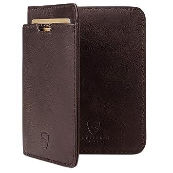 6a94d1a87a1072 Vaultskin City Geldbörse mit Schutz für RFID Karten - Hochwertiges italienisches  Leder - Ultradünne Außentasche und