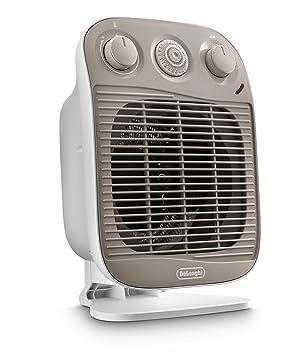 DeLonghi HFS50D22 Interior Color blanco 2200W Calentador eléctrico de ventilador - Calefactor (Calentador eléctrico de