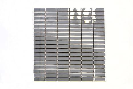 Piastrelle mosaico tessere di mosaico in acciaio inox colore