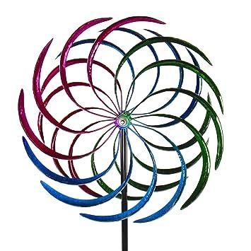 Éolienne Carillon Décoration de jardin Girouette en fer avec 2 ...