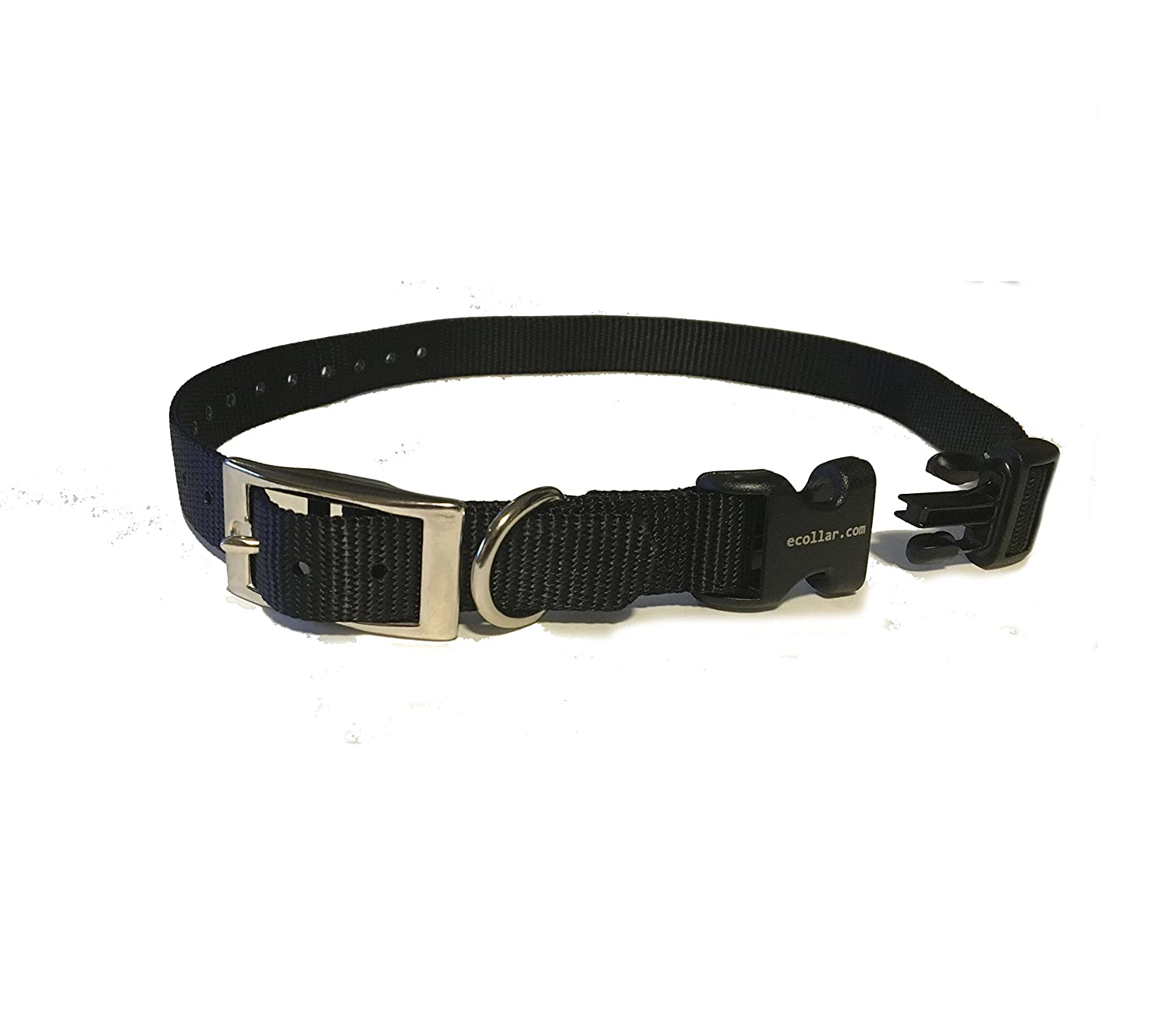 Educator E Collar 3 4  Quick Snap Double Buckle Replacement Dog Strap,Black