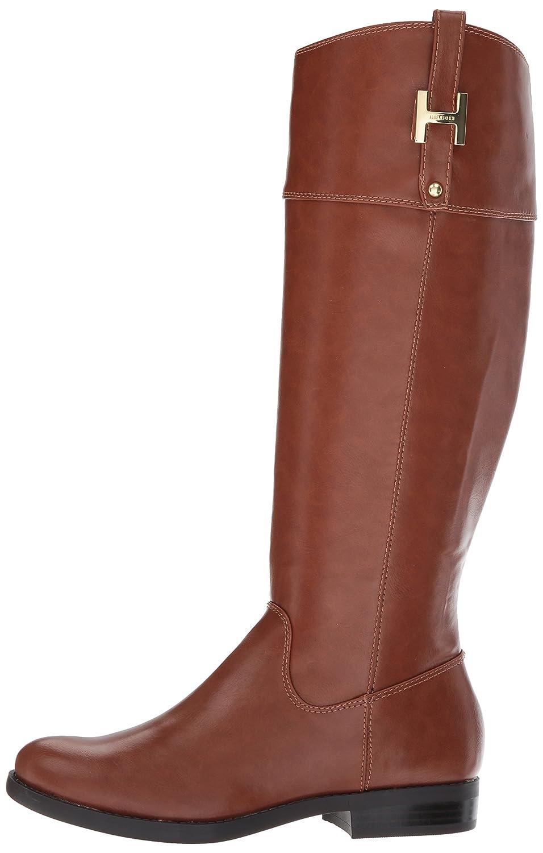 Amazon.com | Tommy Hilfiger Women\'s Shyenne Equestrian Boot, Cognac, 10 Medium US | Knee-High