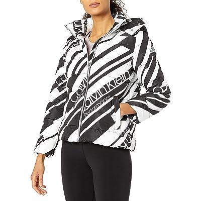 Calvin Klein Women's Polyfill Printed Puffer Jacket: Clothing