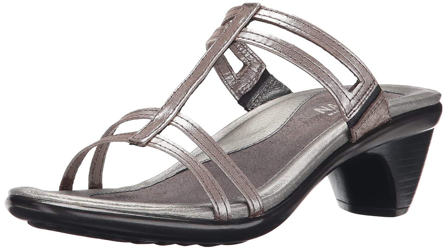 Naot Women's Loop Wedge Sandal, Silver Threads Leather, 41 EU/9.5-10 M US B004Q5T506 Parent