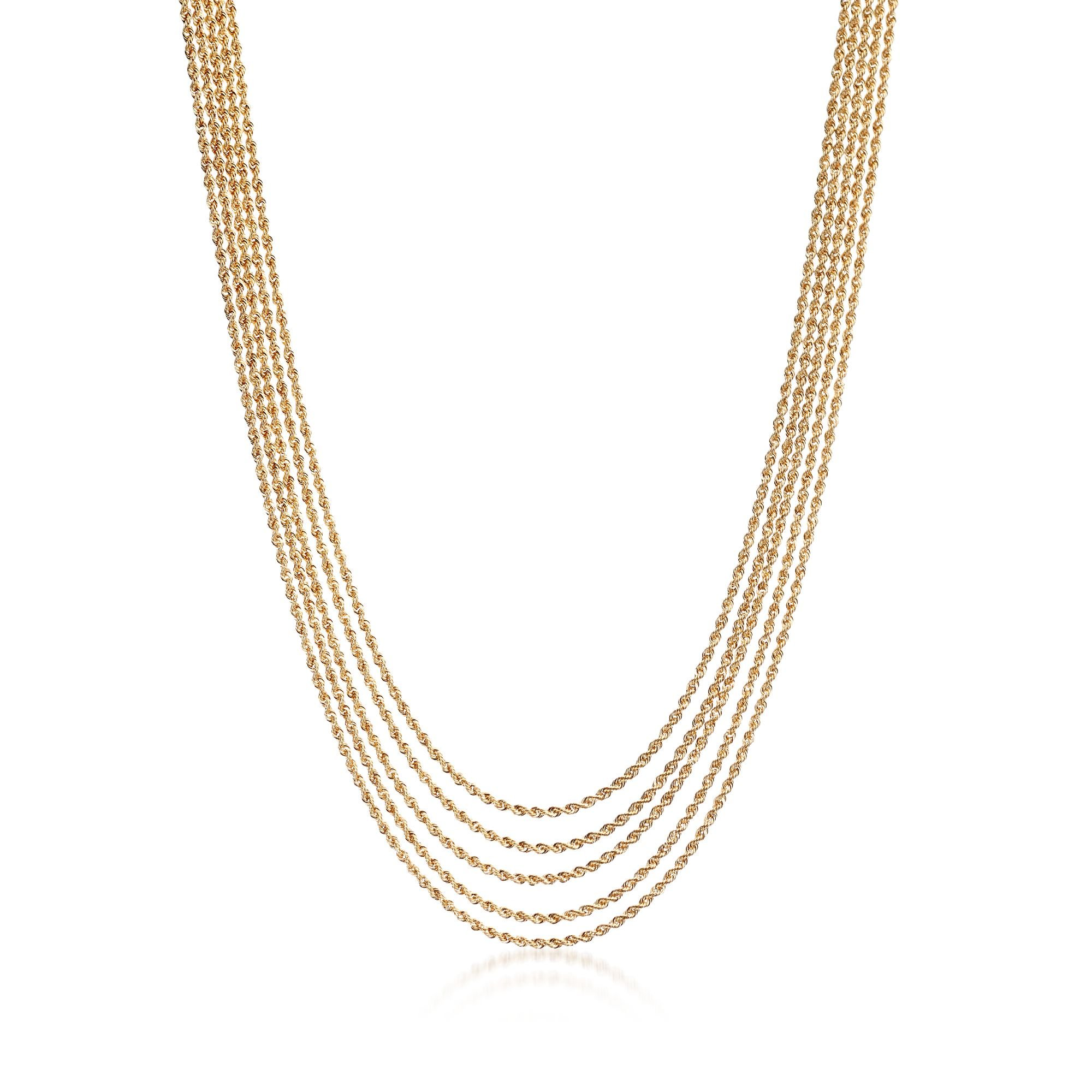 Ross-Simons Italian 14kt Yellow Gold Multi-Strand Layered-Style Rope Necklace