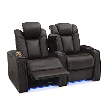 Amazon Com Seatcraft Enigma Home Theater Seating Leather Power