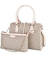 Coofit ® Borsetta di pelle Patchwork Freccia stampa e mini catena set borsa a tracolla
