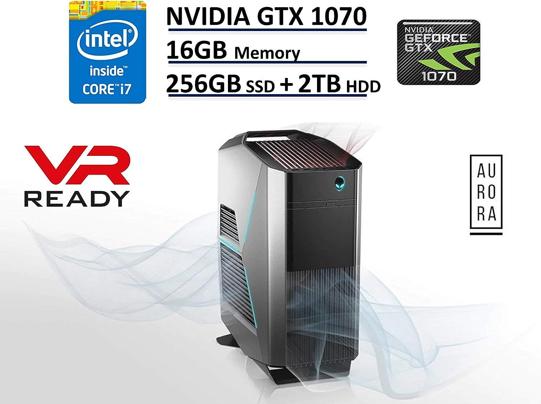 Dell Alienware Aurora R5 VR Ready Gaming Desktop PC - NVIDIA GTX 1070 8GB Graphics, Kaby Lake Intel Quad-Core i7-7700, 256GB PCIe M.2 NVMe SSD + 2TB HDD, 16GB DDR4, Windows 10 (Renewed)
