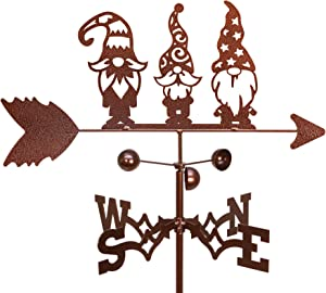 SWEN Products Garden GNOME Weathervane (Garden Stake Included)