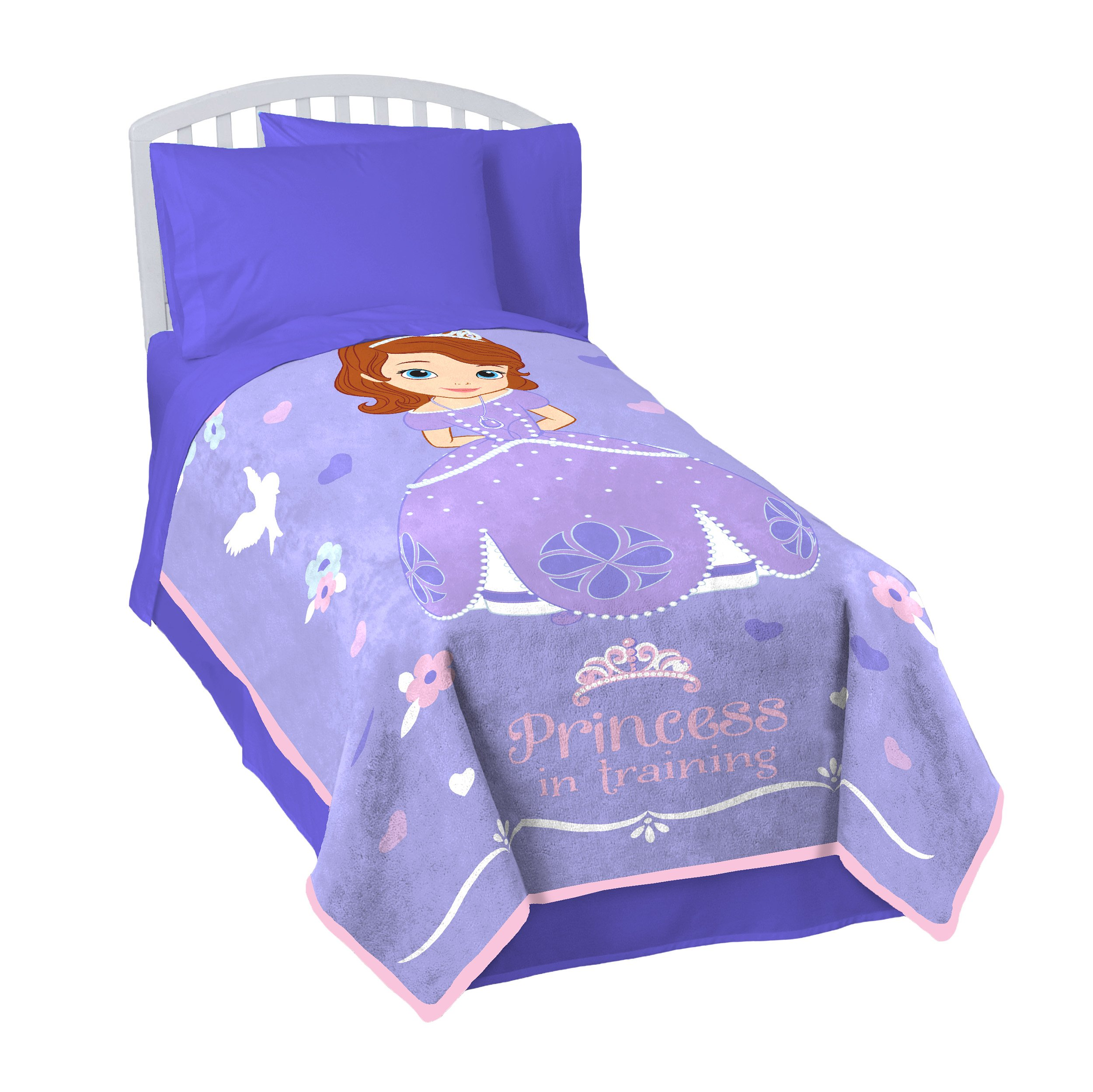 Disney Junior Sofia The First Princess in Training Fleece 62'' x 90'' Twin Blanket