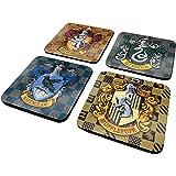 Harry Potter Shields Coaster Set - 4 Pieces