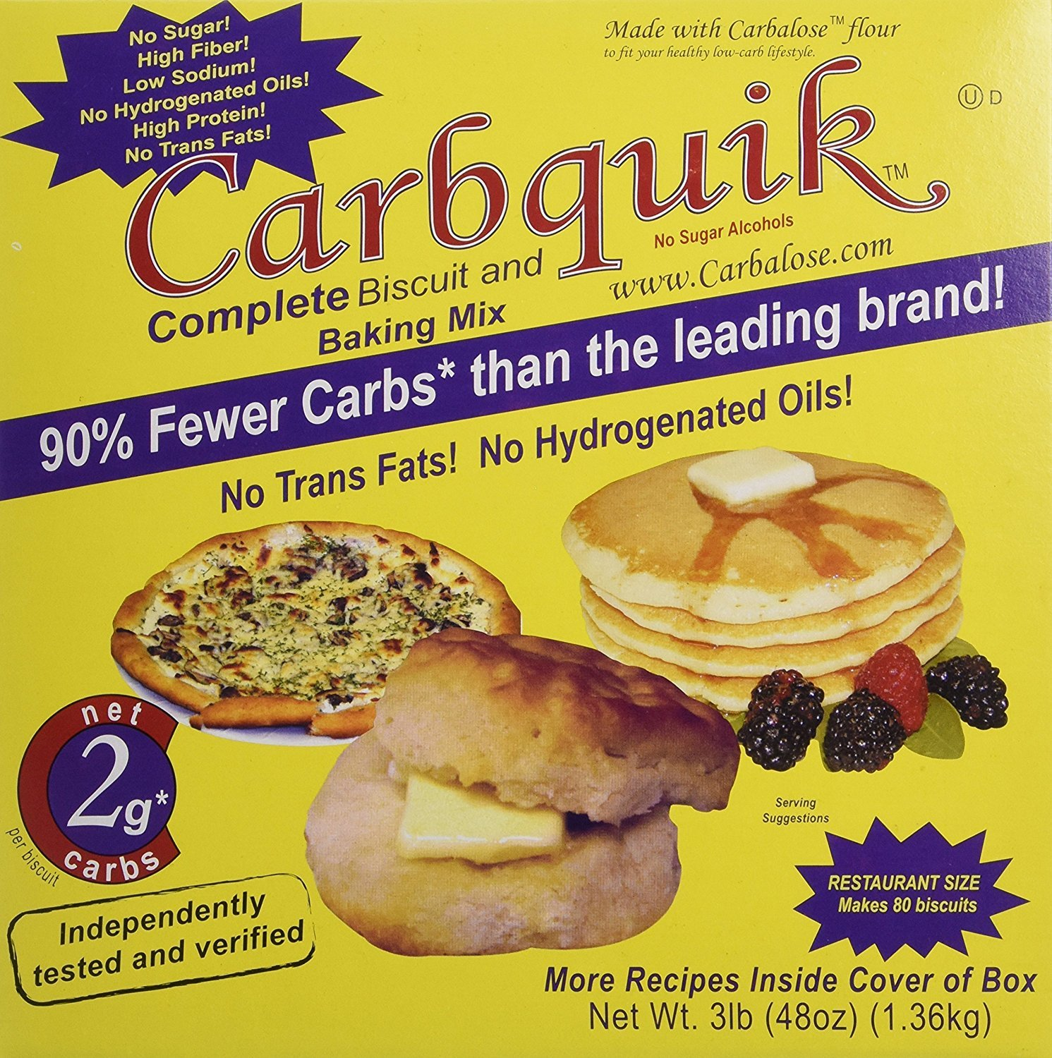 Carbquik Baking Biscuit Mix 3 lbs (5 Pack) CVBD by Carbquik (Image #1)