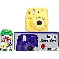 Fujifilm Instax Mini 8 Value Cam Instant Camera - Combo Offer (Camera + 20 Instant Films) (Yellow)