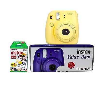 9a9c0c3f02df0 Fujifilm Instax Value Cam Mini 8 with 20 Films Shot (Yellow)