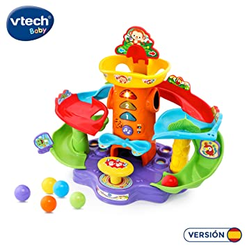 VTech-80-505422 Tobogán de Bolas Locas Electrónico Interactivo P, Color Verde (80-505422)