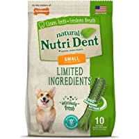 Nylabone Nutri Dent Natural Dental Fresh Breath Flavored Chew Treats