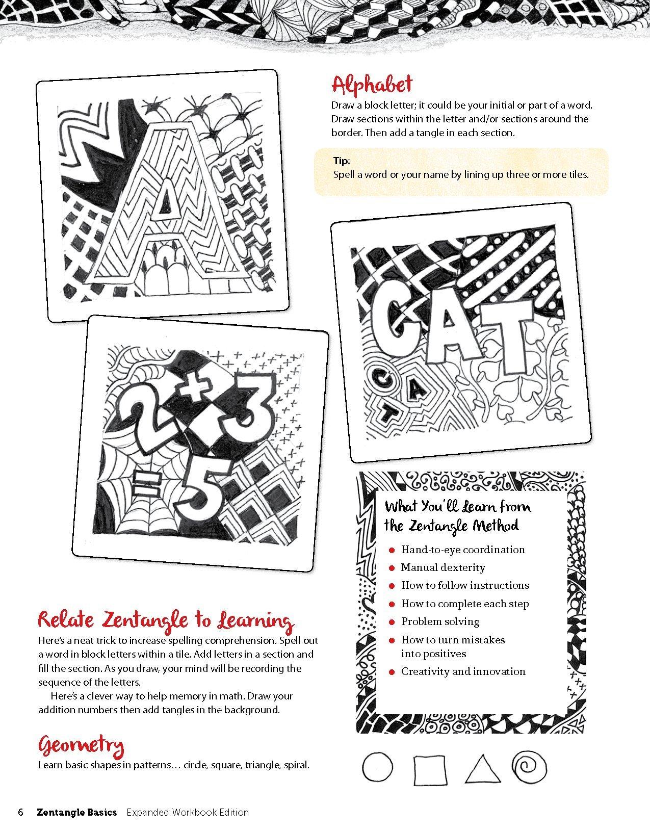 Zentangle Basics Expanded Workbook Edition A Creative Art Form