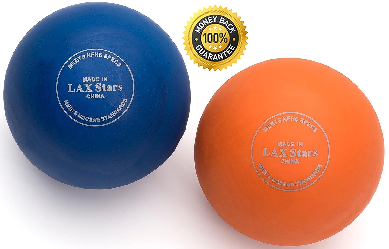 LAX Stars Lacrosse Balls Massage Ball Therapy - Myofascial Tension Release,  Fascia Release, Massage Balls for Foot, Massage Balls for Back, Trigger