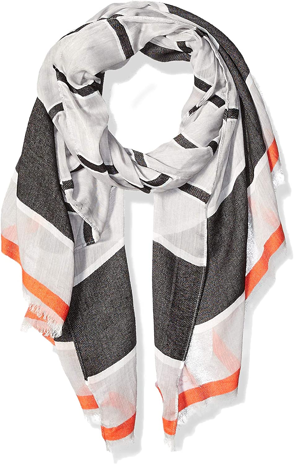 Calvin Klein Women's Striped Chambray Scarf