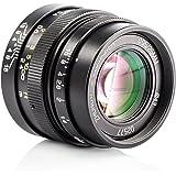Zhongyi Mitakon Speedmaster 25mm F0.95 Large Aperture Prime Fixed Lens with TARION Storage Bag for MFT M43 M4/3 Mount Mirrorless Cameras Olympus Panasonic GH4 GF8 Black