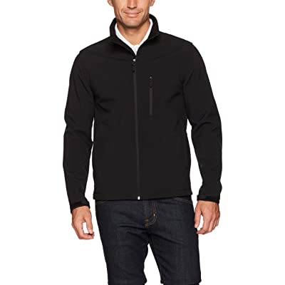 Essentials Men's Water-Resistant Softshell Jacket: Clothing
