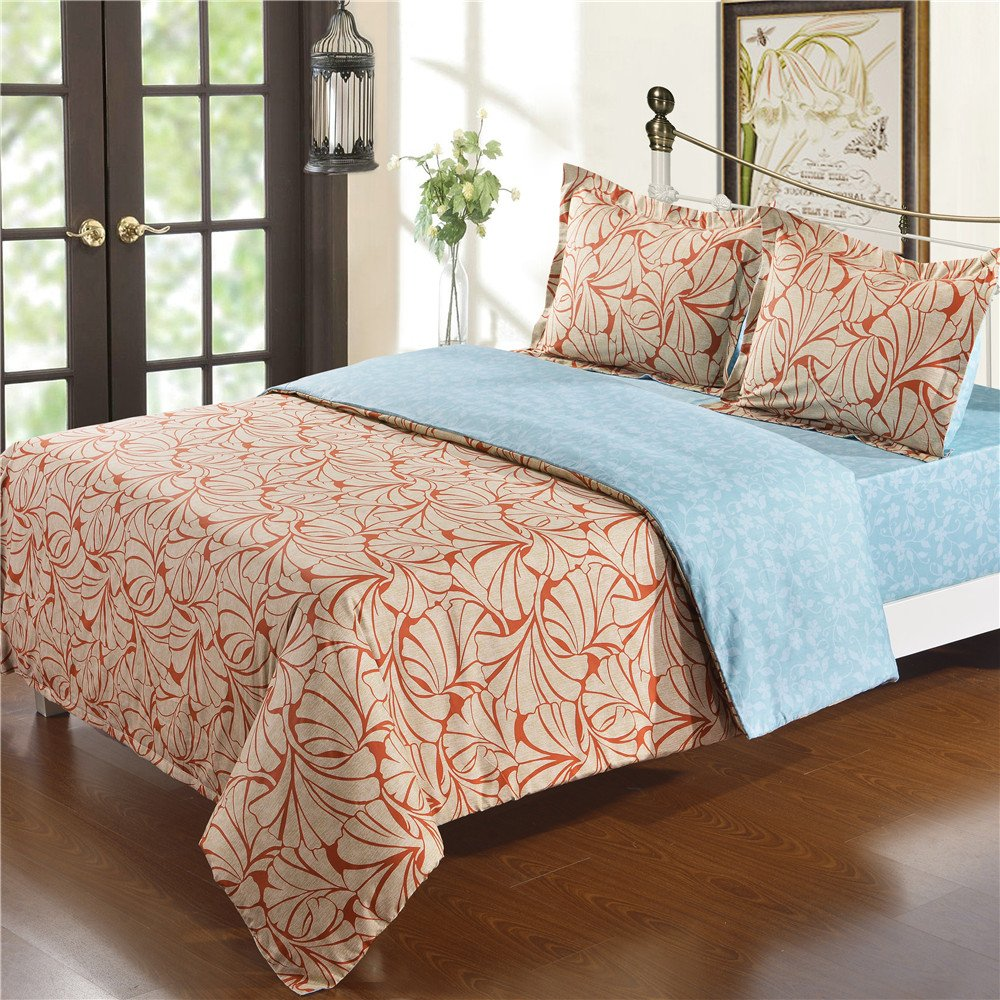 nioBomo Bedding 100% Cotton 4pcs Duvet Cover Set