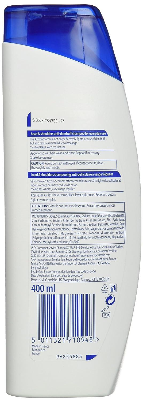 Head & Shoulders Anti Hairfall Defence Champú - 400 ml ...