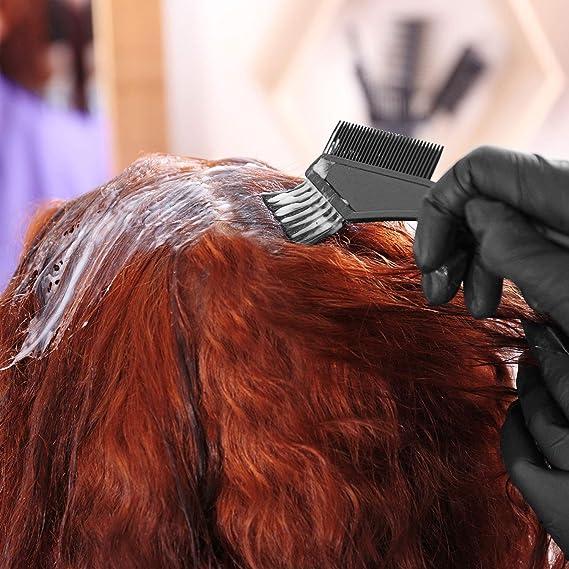 3 juegos para tinte de cabello, con peine de teñir, cepillos para dar color y cuenco para la mezcla, instrumentos de coloración del pelo, 12 piezas en ...